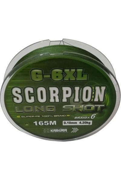 Kabura Scorpion G-6xl Long Shot 0.16MM. %100 Super Pe Braidx6 165MT. Örgü Ip Misina