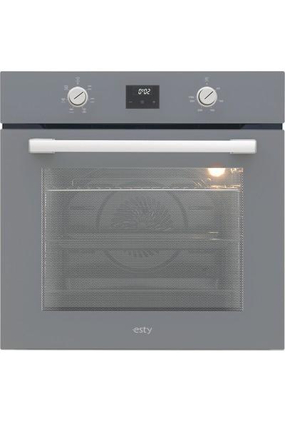 Esty Gri Cam Ankastre Set (AEF6603S02 Fırın + ACO5335S01 Ocak + 3471S6 Davlumbaz)
