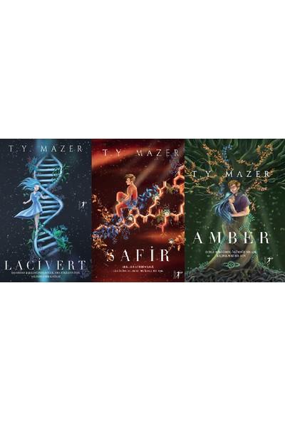 Lacivert Serisi 3 Kitap Ciltli Set T. Y. Mazer (Lacivert, Safir, Amber)