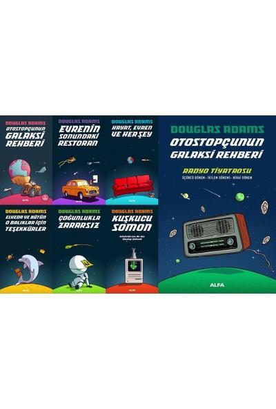 Otostopçunun Galaksi Rehberi 7 Kitap Set Douglas Adams (Evrenin Sonundaki Restoran, Hayat Evren ve Her Şey, Elveda ve Bütün O Balıklar Için Teşekkürler, Kuşkucu Somon, Radyo Tiyatrosu)