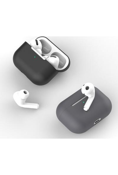 Yakuppolt Apple Airpods Pro Için Tam Kaplayan Ultra Ince Slim Silikon Kılıf Darbe Emici Çizilmeye Dayanıklı