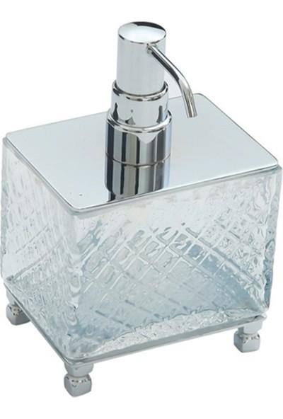 Comfort Benon Chrome Set Üstü Pirinç-Baklava Cam Sıvı Sabunluk 8130