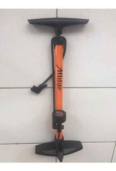 Bisiklet Ayak Pompası Göstergeli 160 Psi El Pompa