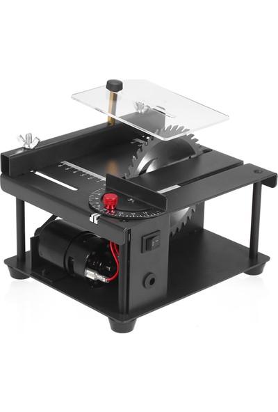 Mbw 110-240V Çok Fonksiyonlu Masa Testere Mini Masaüstü Eu Fiş Siyah (Yurt Dışından)