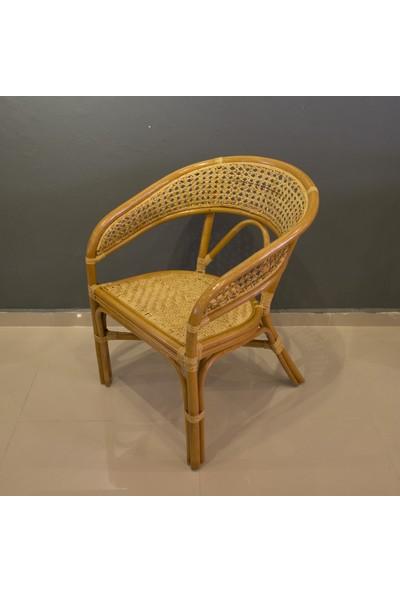 Adalı Bambu Rattan Imas Sandalye