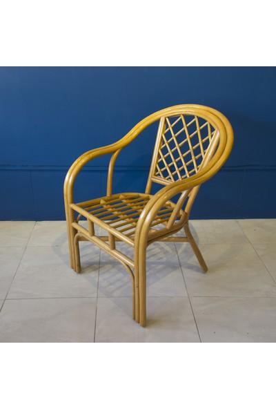 Adalı Bambu Rattan Teras Sandalye Balköpüğü