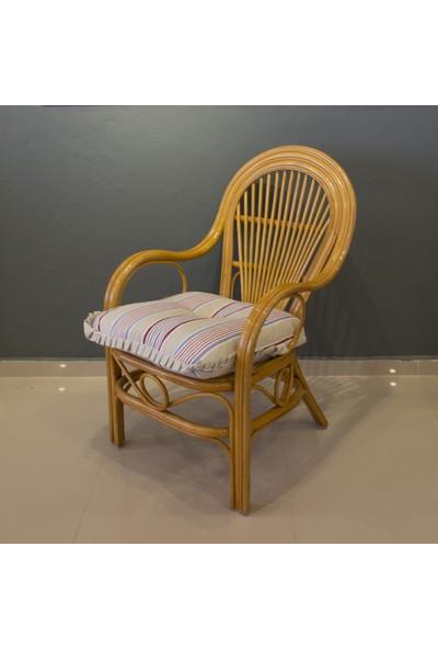 Adalı Bambu Rattan Marina Sandalye Balköpüğü