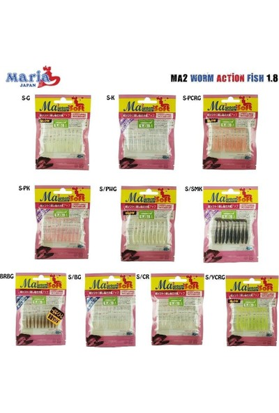 Maria Ma2 Worm Action Fish 1.8 46MM