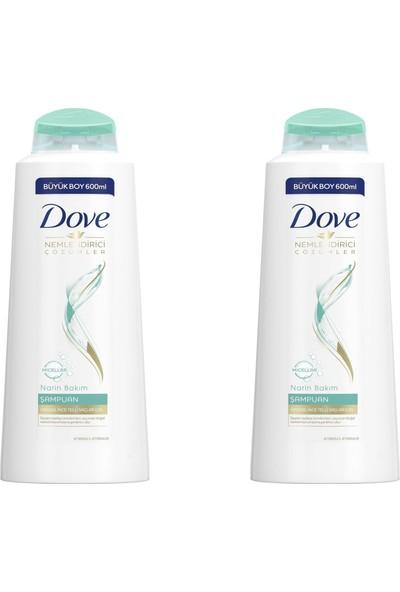 Dove Narin Bakım Şampuan Micellar 600 ml 2'li Paket