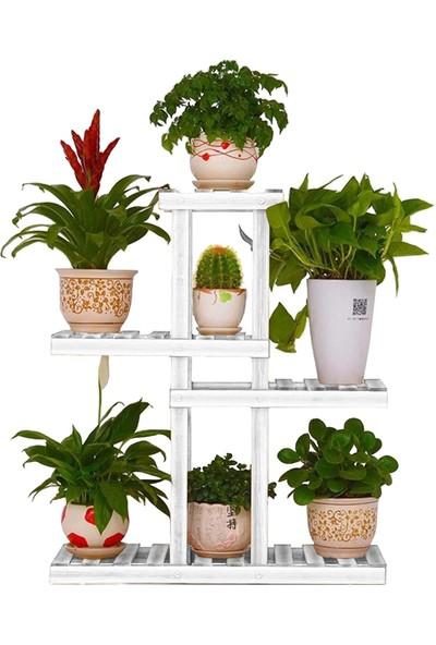 ZepHome Zep Home Saksı Standı 4 Raflı Dekoratif Çiçeklik