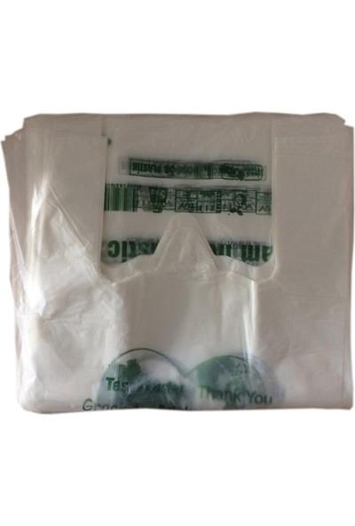 Hoşgör Plastik Biyobozunur ve Kompostlanabilir Atlet Poşet Küçük Boy 20 Paket 1000'LI