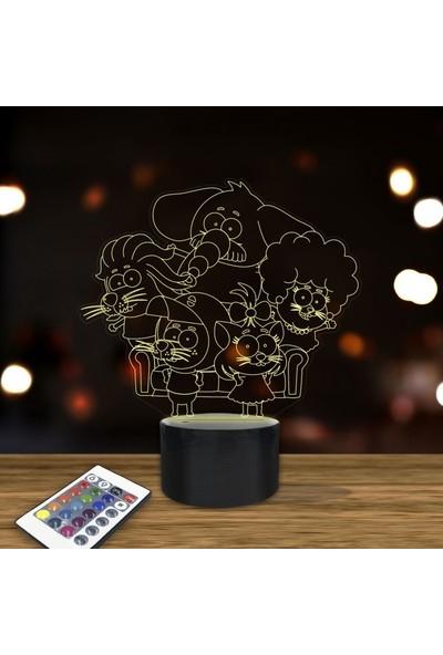 Artikel Kral Şakir ve Ailesi 3D LED Gece Lambası 24x27cm