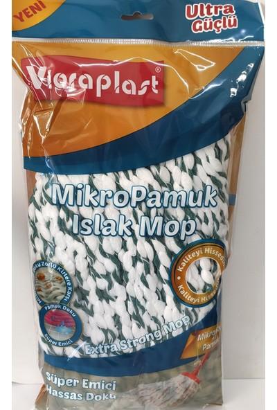 Vioraplast Viorapalst Mikropamuk Örgülü Mop Yedek