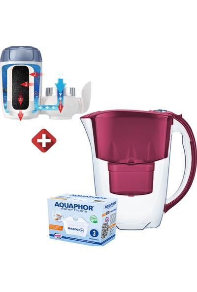 Aquaphor Ametist 2,8 Litre Akıllı Sürahi-3 Adet Kartuş ve Musluk Ucu Arıtma Seti