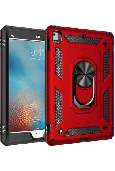 Vendas Apple iPad 9.7 2017 Hulk Serisi Tam Korumalı Tablet Silikon Kılıf Kırmızı