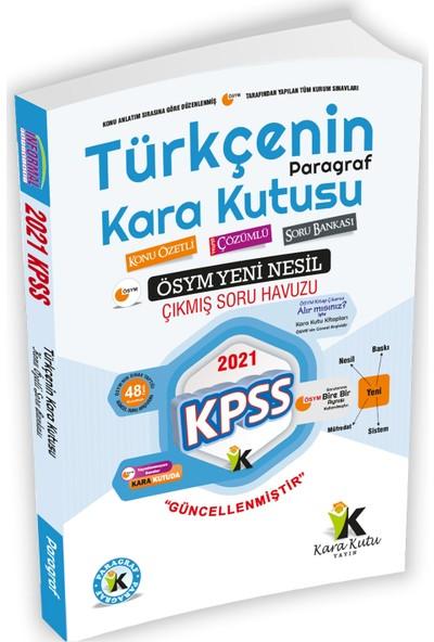 2021 KPSS Türkçenin Kara Kutusu DİJİTAL ÇÖZÜMLÜ Paragraf Konu Özetli Soru Bankası