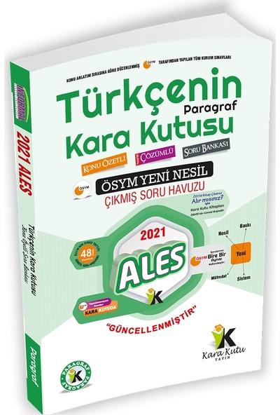 2021 ALES Türkçenin Kara Kutusu DİJİTAL ÇÖZÜMLÜ Paragraf Konu Özetli Soru Bankası