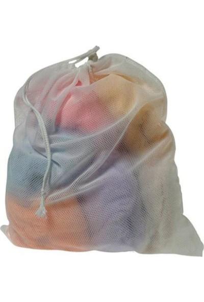 Hanedanev 3 Adet Çamaşır Yıkama Filesi Kirli Filesi Maxi 40X60 cm Büyük Boy
