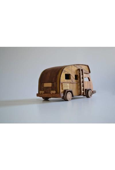 Ahşap Wolkswagen Sleeper Van Klasik Model Ahşap Dekor Oyuncak