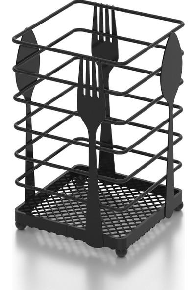 Teknotel Tezgah Üstü Desenli Kaşıklık Mat Siyah