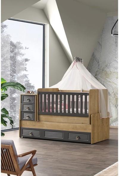 Aymini Ikon Büyüyen (Yavrulu) Beşikli Bebek Odası Takımı