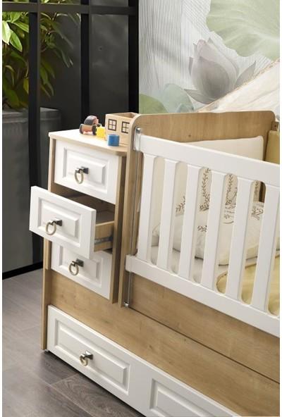 Aymini Esla Büyüyen (Yavrulu) Beşikli Bebek Odası Takımı