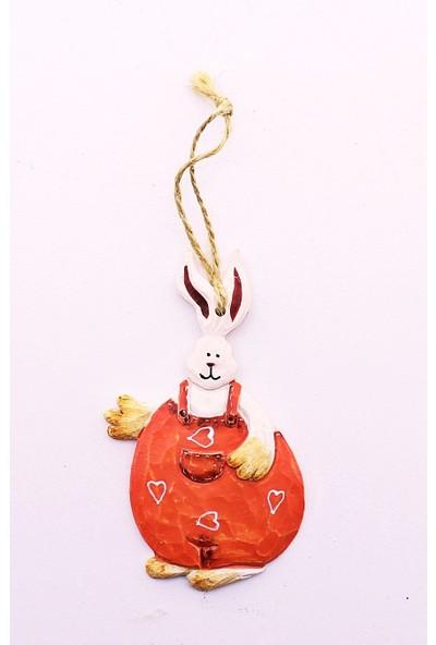 Deco Elit 1 Adet Yılbaşı Çam Ağacı Süsü Kırmızı Tavşan Dekoru