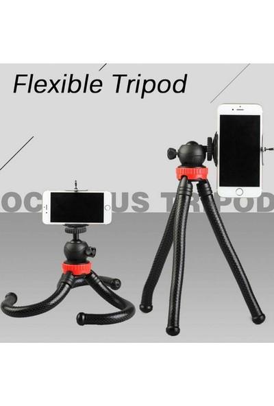 Asfal Esnek Tripod Gorillapod Dslr Telefon Kamera Tutucu Tutacağı Standı +Telefon Tutacağı