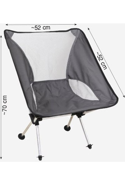 Neone Alüminyum Katlanır Kamp Sandalyesi, Ultra Hafif, Kolay Taşınabilir