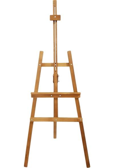 İkra Şövale Ressam Sehbası Vernikli Meşe Ahşap Koruyuculu 175 cm