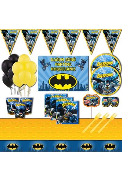 Batman Mavi Afişli 24 Kişilik Doğum Günü Parti Malzemeleri Seti