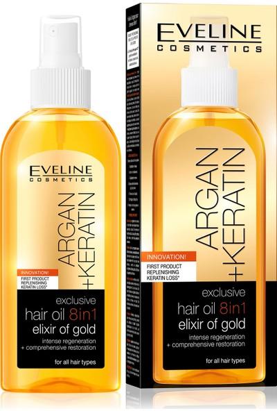EVELİNE Argan & Keratin Besleyici Saç Iksiri Altın Yağ