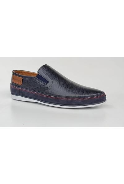 Komcero 2325 Ince Taban Günlük Bağsız Deri Erkek Ayakkabı