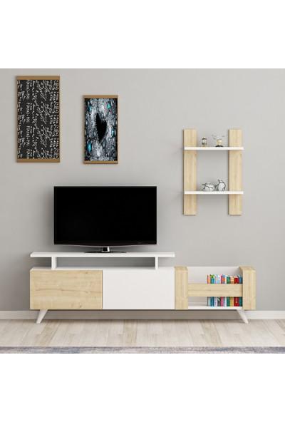 Arnetti Ikon Tv Ünitesi Beyaz-Safirmeşe