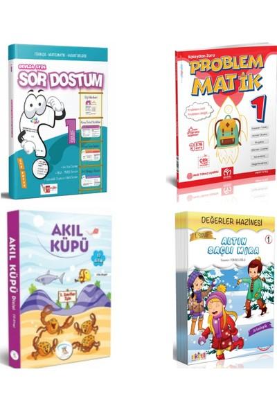 Artı Eğitim Yayınları 1. Sınıf Sor Dostum Tüm Dersler Soru Bankası + Problemmatik ve 2 Adet 1. Sınıf 10 Lu Hikaye