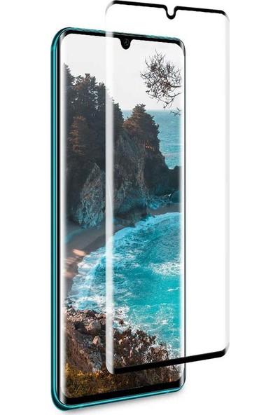 Case 4U Xiaomi Mi Note 10 Cam Ekran Koruyucu Tam Kaplayan Süper Jelatin Pet Siyah