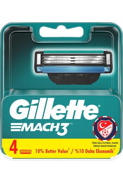 Gillette Mach3 Yedek Tıraş Bıçağı 4lü + Nivea Protect & Care Koruyucu Tıraş Jeli 200 ml Erkek Tıraş ve Bakım Seti 7 Parça