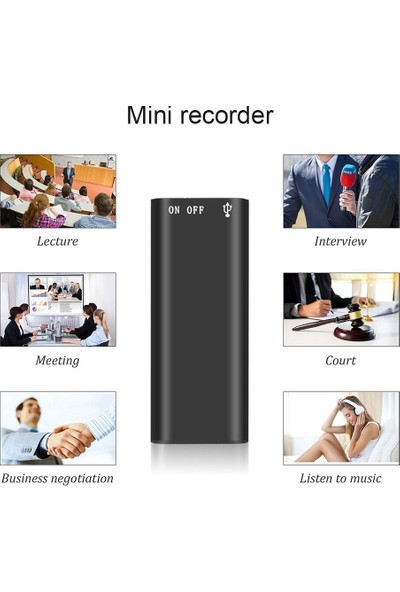 Cooltech 16 GB Mini Dijital Ses Kayıt Cihazı