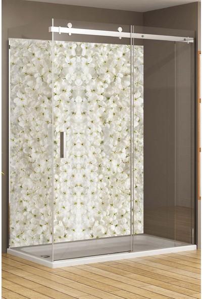 Kolhis 60 cm x 100 cm Banyo Fayans Suya Dayanıklı Premium Sağlıklı Boya Yapışkanlı Folyo