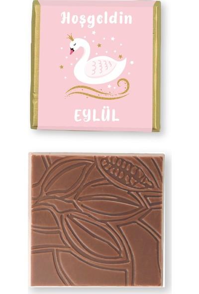 Valonia Dila Çikolata Kız Bebek Çikolatası (50 Madlen ve Draje)