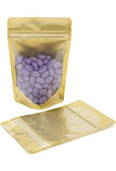 Eposet Şeffaf Altın Alüminyum Doypack (13X22,5 Cm) 250 gram 25 'li