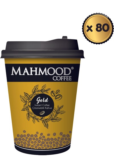 Mahmood Coffee Gold Karton Bardak 2 gr x 80 Adet ( 1 Koli)