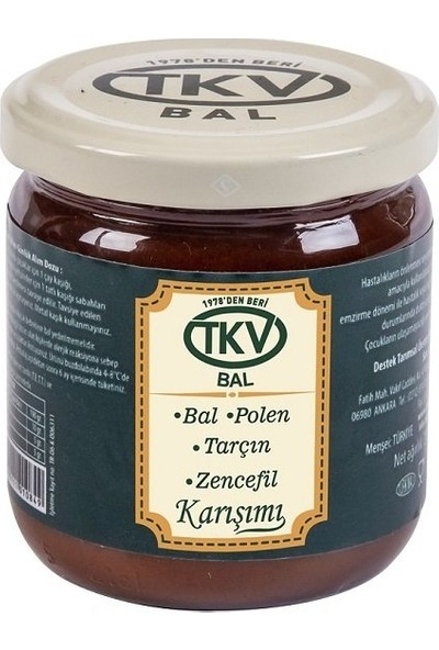 TKV Bal+Polen+Tarçın+Zencefil (210 Gr)