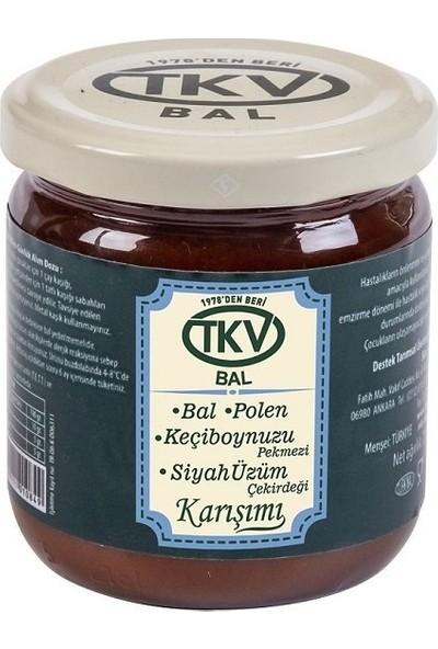 TKV Bal+Polen+Keçiboynuzu Pekmezi+Siyah Üzüm Çekirdeği (210 Gr)