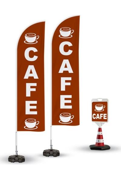 Burada Reklam Ajans Medikal Cafe Temalı 2 Adet Yelken Bayrak 1 Adet Duba Takım