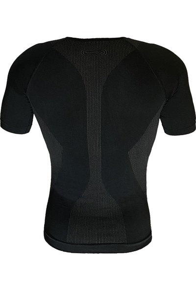 Kalenji By Decathlon Erkek Kısa Kollu Bisiklet Koşu Fitnes Termal Dri-Fit Tayt Tişört Siyah