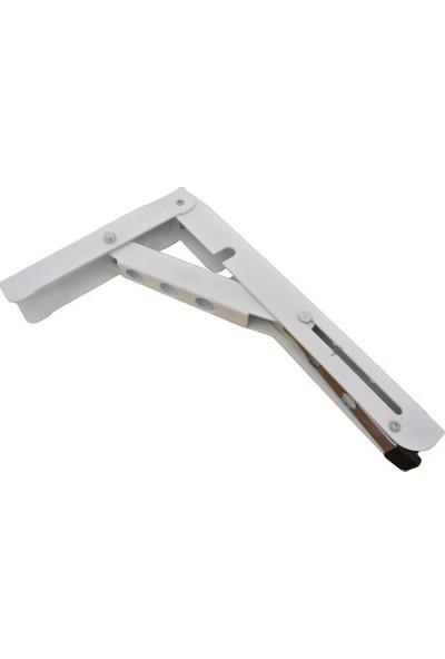 Şen Mandallı Katlanabilir Masa Konsolu Beyaz 30 cm 1 Çift