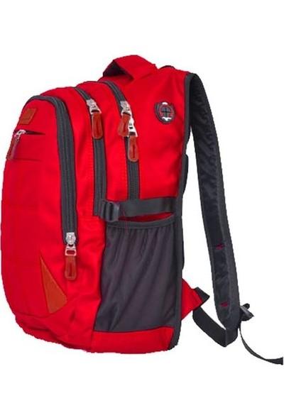 Hedge Bag HB2227 Sırt Çantası 3 Göz Tek Cep Kırmızı