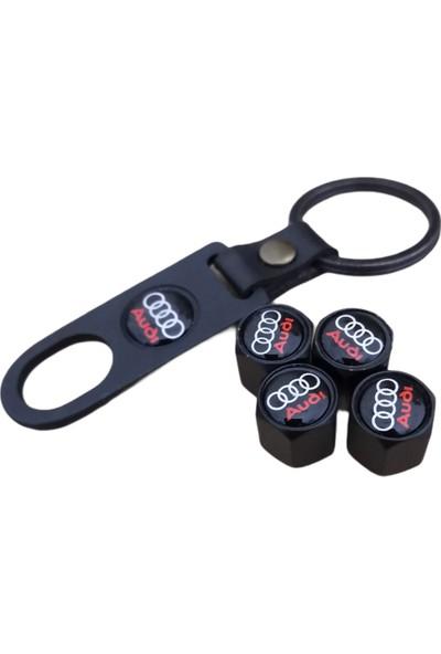 Audı Metal Sibop Kapağı Anahtarlık Set