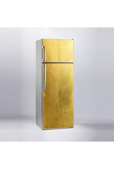 Jasmin2020 Buzdolabı Sticker Kaplama Etiketi Altın Doku Desen